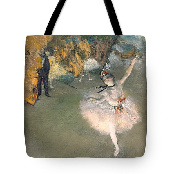 The Star Or Dancer On The Stage Tote Bag by Edgar Degas