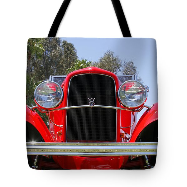 Tote Bag featuring the photograph The Stare Of A V8 by Shoal Hollingsworth