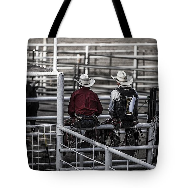 The Stare-off Begins Tote Bag by Amber Kresge