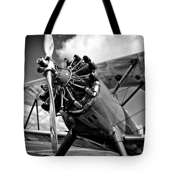 The Stearman Biplane Tote Bag