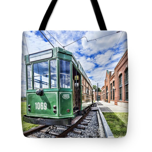 The Stib 1069 Streetcar At The National Capital Trolley Museum I Tote Bag
