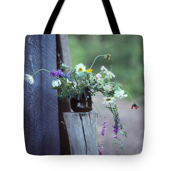 The Still Life Of Wild Flowers Tote Bag by Patricia Keller