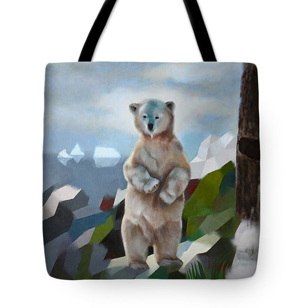 The Story Of The White Bear Tote Bag by Jukka Nopsanen