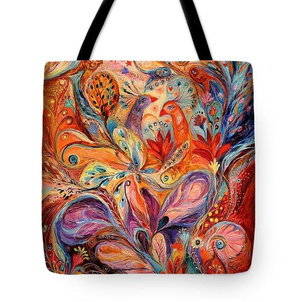 The Story Of Wild Iris Tote Bag by Elena Kotliarker