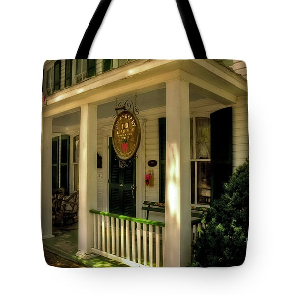 The Strawberry Inn Tote Bag by Lois Bryan