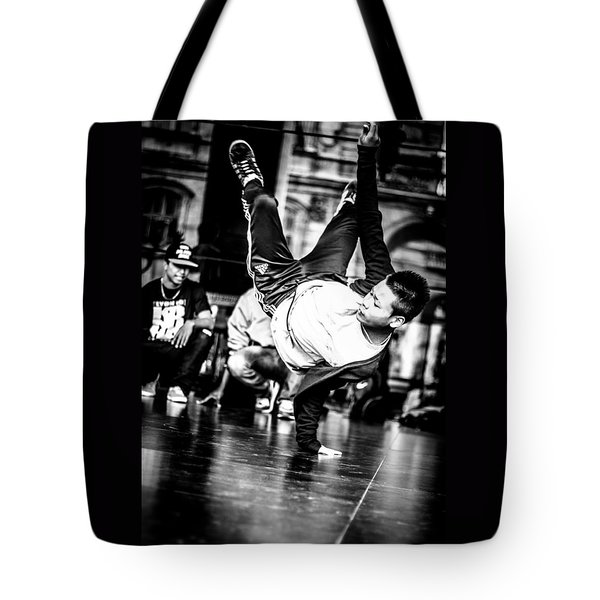 Tote Bag featuring the photograph The Street Dancer by Stwayne Keubrick