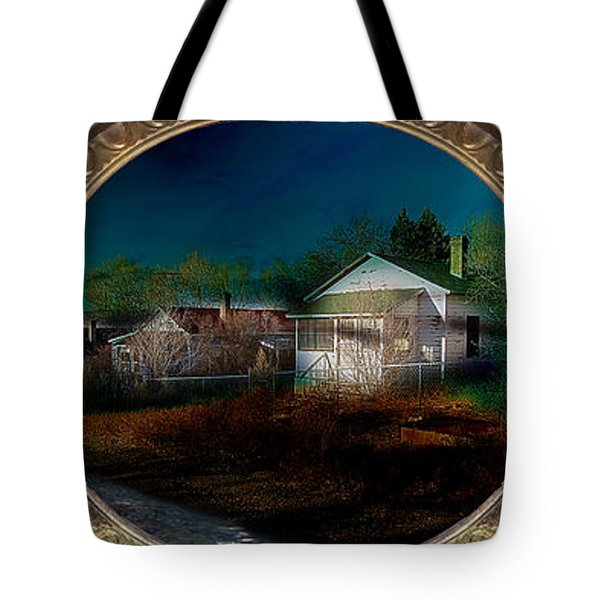The Street On The River Tote Bag