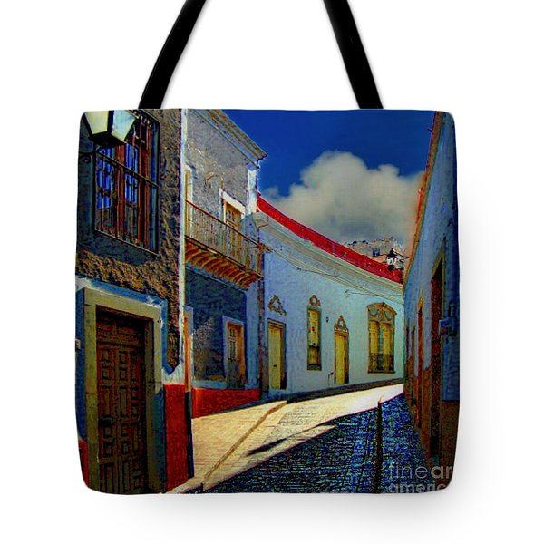 The Street To Diego Rivera's Parents House Tote Bag