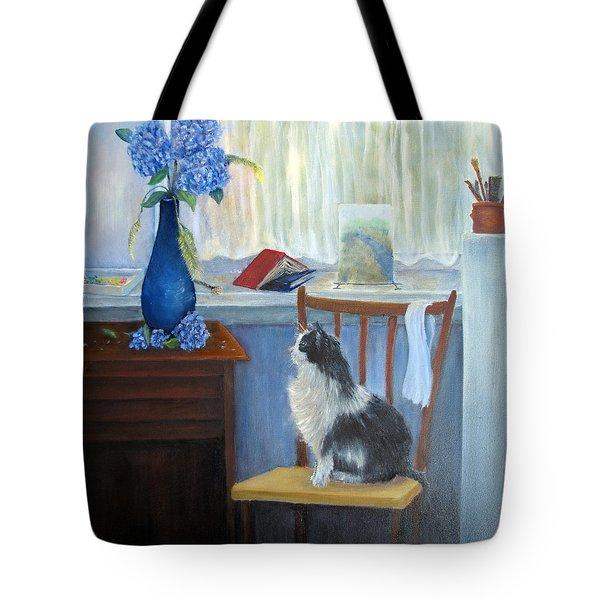 The Studio Cat Tote Bag by Loretta Luglio