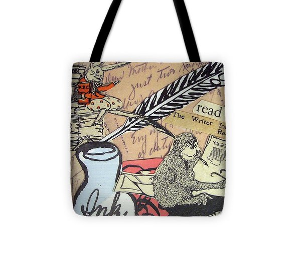 The Studious Rabbit And The Monkey Tote Bag by Eloise Schneider