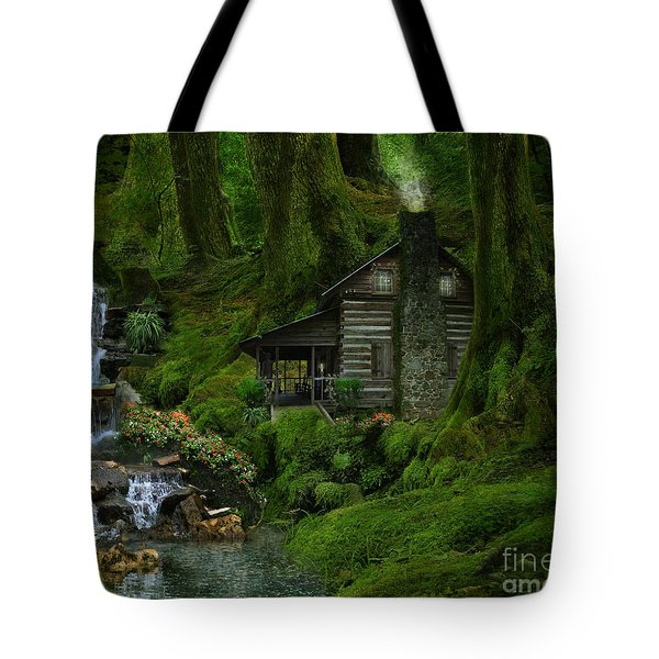 The Summer Cottage Tote Bag by Lynn Jackson