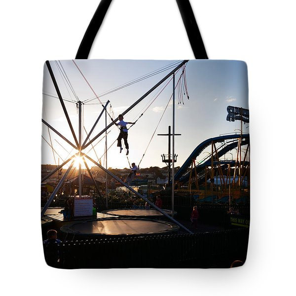 The Summer Fairground, Tramore, County Tote Bag