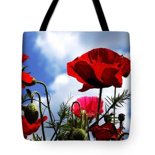 Tote Bag featuring the photograph The Summer Poppy by Baggieoldboy