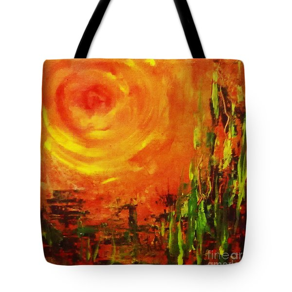 The Sun At The End Of The World Tote Bag