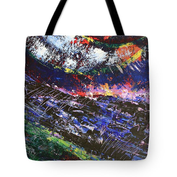 The Sun Moon And Earth Tote Bag