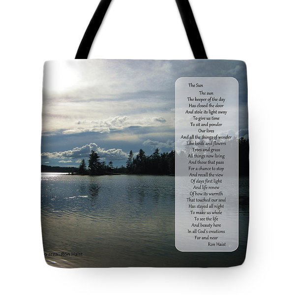 Tote Bag featuring the photograph The Sun by Ron Haist