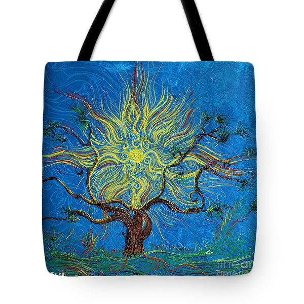 The Sun Tree Tote Bag by Stefan Duncan