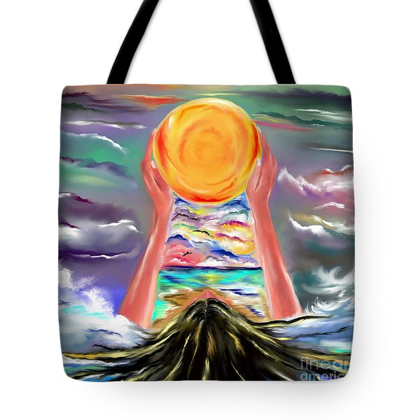 Tote Bag featuring the drawing The Sun Will Shine Again by Lori  Lovetere