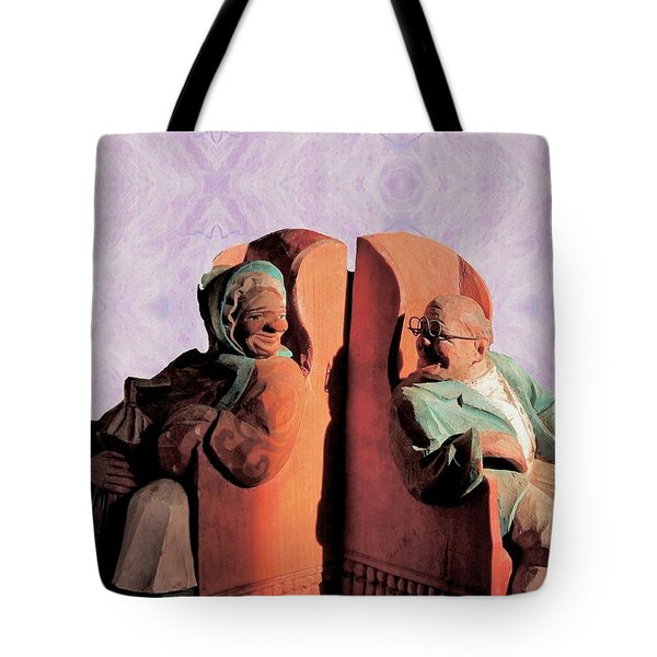 Tote Bag featuring the digital art The Sunny Couple by Aliceann Carlton