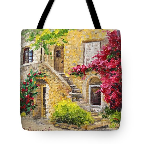 Tote Bag featuring the painting The Sunny Side by Jennifer Beaudet