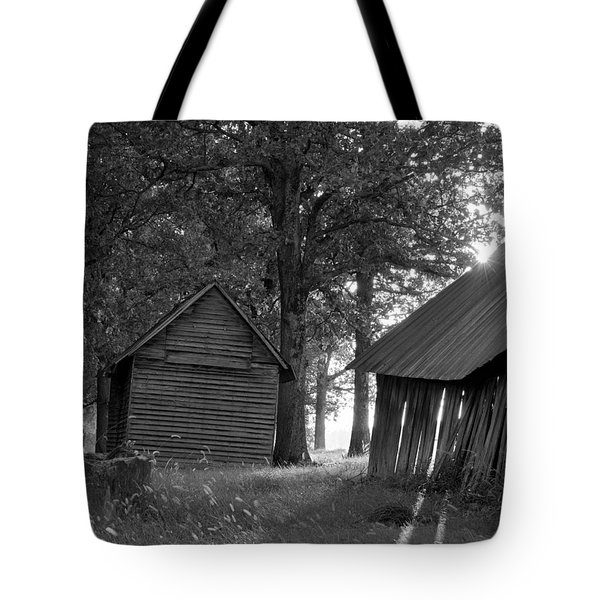 Tote Bag featuring the photograph The Sunrise In Black And White by Amber Kresge