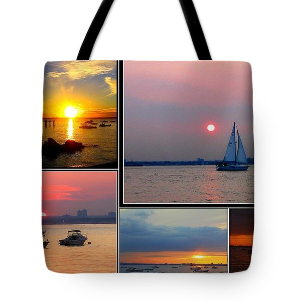 The Sunsets Of Long Island Tote Bag by Dora Sofia Caputo Photographic Art and Design