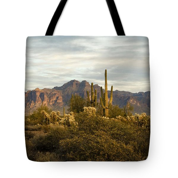 The Superstition Mountains Tote Bag
