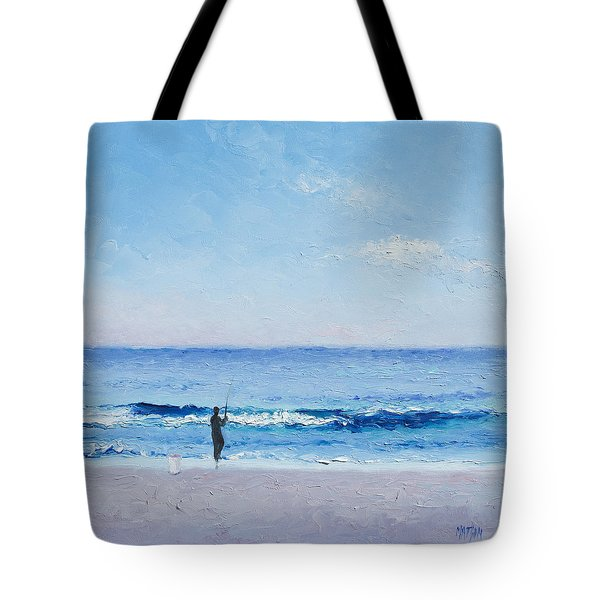 The Surf Fisherman Tote Bag by Jan Matson