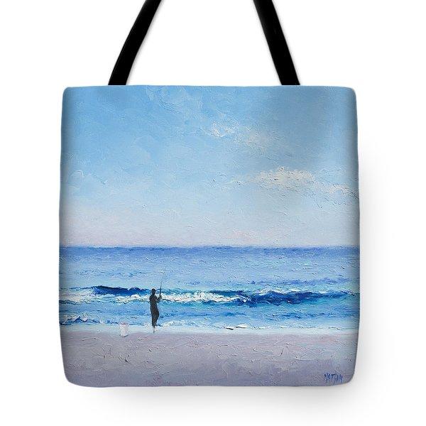 The Surf Fisherman Tote Bag