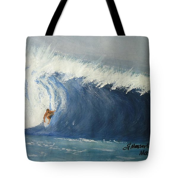 The Surfing Tote Bag by Fladelita Messerli-