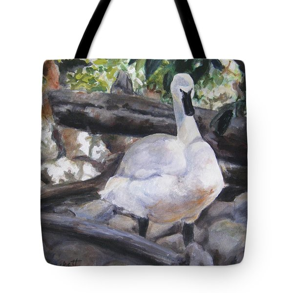 The Swan Tote Bag by Lori Brackett
