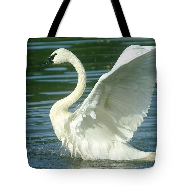 The Swan Rises  Tote Bag by Jeff Swan
