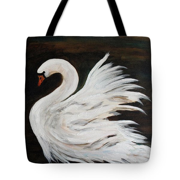 The Swans Of Albury Manor II Tote Bag by Barbie Batson