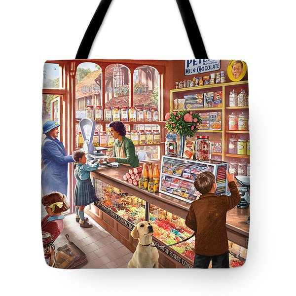 The Sweetshop Tote Bag by Steve Crisp