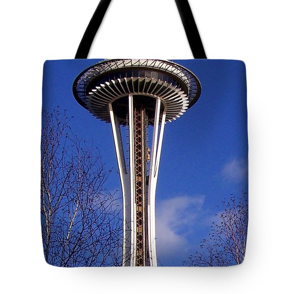 Tote Bag featuring the photograph The Symbol Of Seattle by Kathy  White