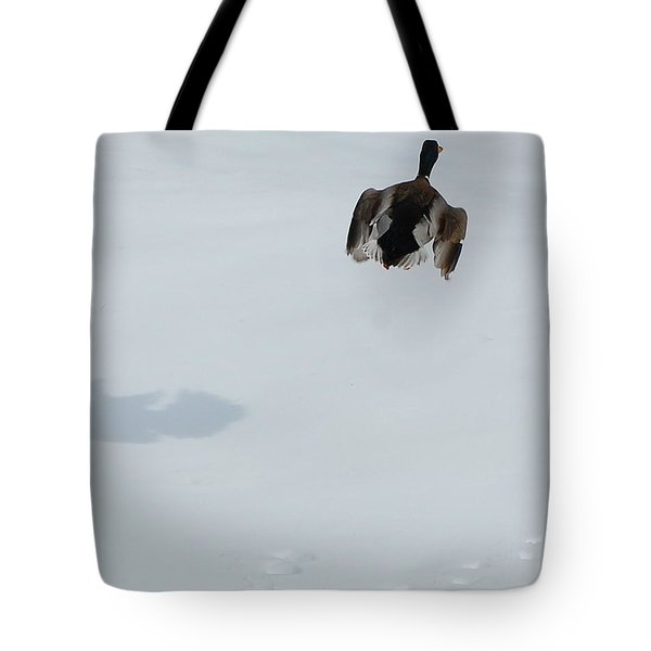Tote Bag featuring the photograph The Takeoff by Mim White