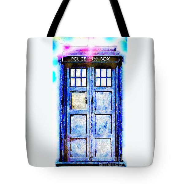 Tote Bag featuring the painting The Tardis by Helge