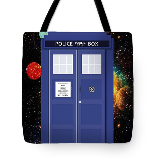 The Tardis Tote Bag by Nishanth Gopinathan
