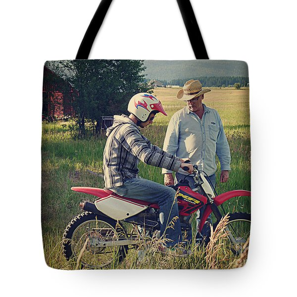 Tote Bag featuring the photograph The Teacher by Meghan at FireBonnet Art
