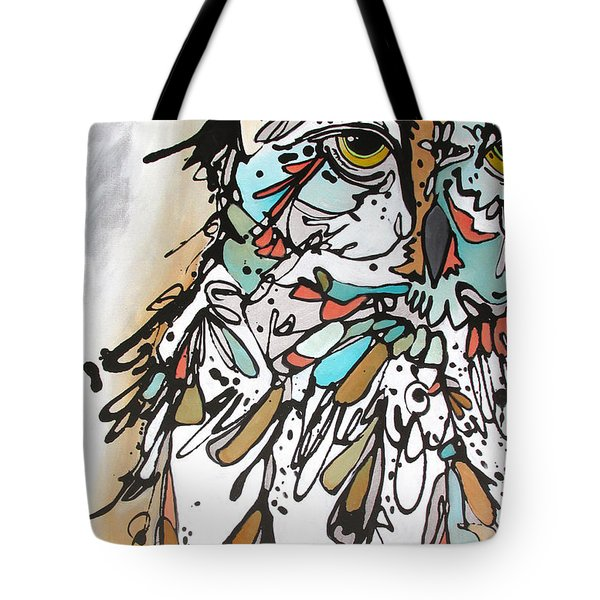 Tote Bag featuring the painting The Teacher by Nicole Gaitan