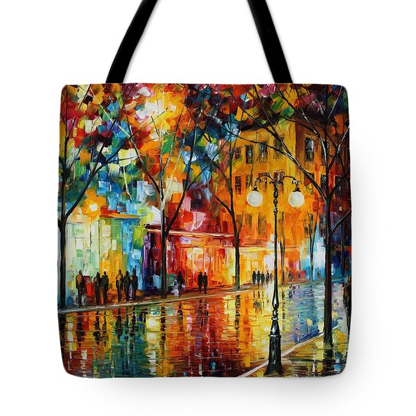 The Tears Of The Fall - Palette Knife Oil Painting On Canvas By Leonid Afremov Tote Bag