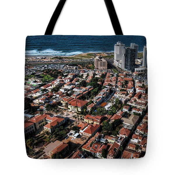 Tote Bag featuring the photograph the Tel Aviv charm by Ron Shoshani