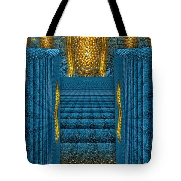 Tote Bag featuring the digital art The Temple In My Heart  - Spiritual Art By Rgiada by Giada Rossi