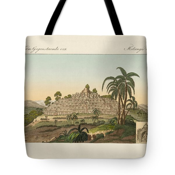 The Temple Of Buddha Of Borobudur In Java Tote Bag by Splendid Art Prints