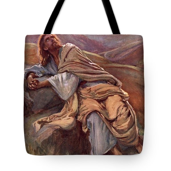 The Temptation Of Christ Tote Bag by Harold Copping