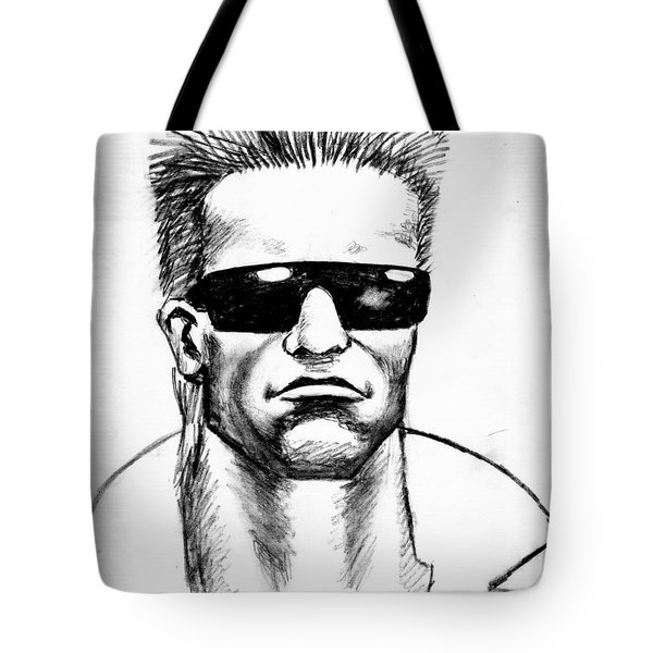Tote Bag featuring the painting Arnold Schwarzenegger by Salman Ravish