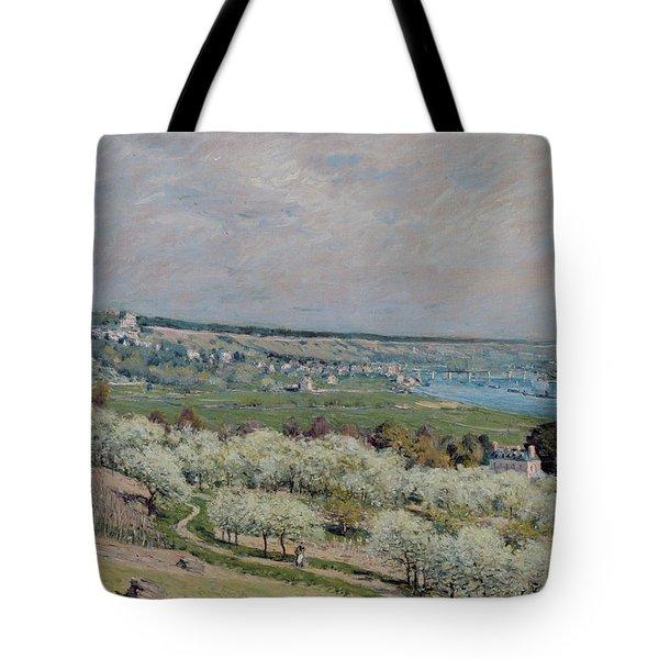 The Terrace At Saint Germain Tote Bag by Alfred Sisley