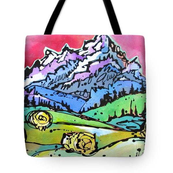 The Tetons From Walton Ranch Tote Bag by Nicole Gaitan
