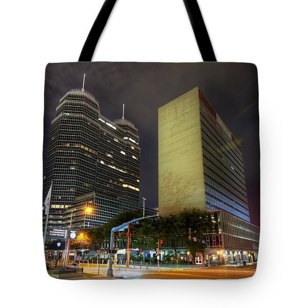 The Texas Medical Center At Night Tote Bag by Tim Stanley