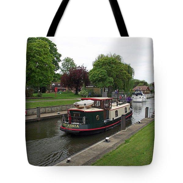 The Thames At Penton Hook Lock Tote Bag